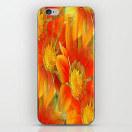 Seamless Vibrant Yellow Gazania Flower iPhone Skin