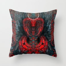 Seen Through Flames and Ashes Throw Pillow