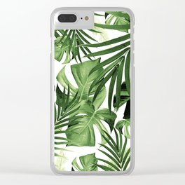 Tropical Jungle Leaves Pattern #12 #tropical #decor #art #society6 Clear iPhone Case