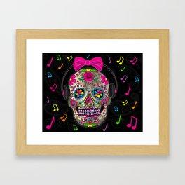 Sugar Skull Music Framed Art Print