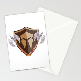 Spartan Shield Axe Warrior Helmet Gladiator Sparta Stationery Cards