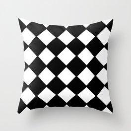 optical pattern 72 domino Throw Pillow