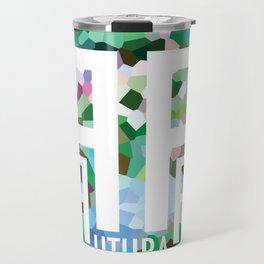 Perception Experiment 002 Futura Condensed Travel Mug