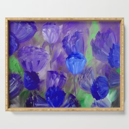 Breaking Dawn in Shades of Deep Blue and Purple Serving Tray