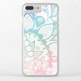 Feel the vibes Clear iPhone Case