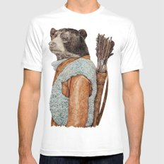 HUNTER LARGE White Mens Fitted Tee
