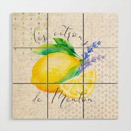 Les Citrons de Menton—Lemons from Menton, Côte d'Azur Wood Wall Art