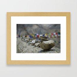 Stacked Stones Framed Art Print