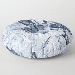 Blue Magnolia Nostalgia Floor Pillow