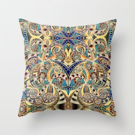 Drawing Floral Zentangle G240 Throw Pillow
