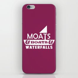 Moats and Boats and Waterfalls Graphic iPhone Skin