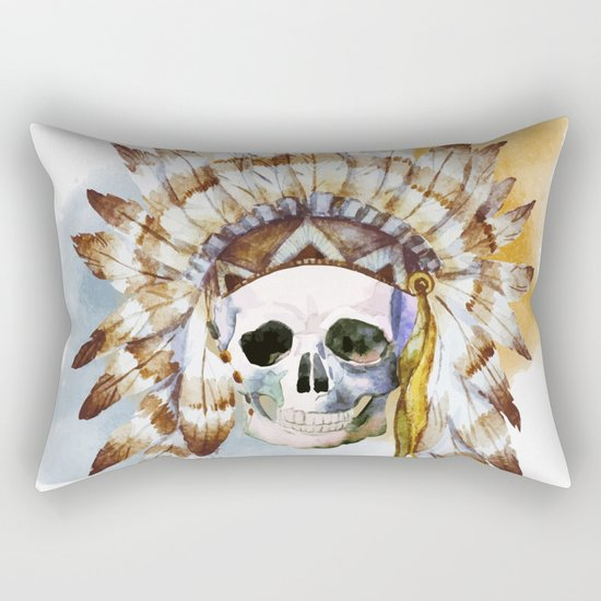 Skull 02 Rectangular Pillow