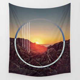 Peel sunset - circle graphic ll Wall Tapestry