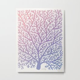 Fan Coral – Rose Quartz & Serenity Metal Print