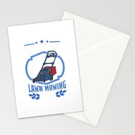 This is my Lawn Mowing Shirt Gardener Lawn Mower Stationery Cards