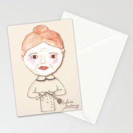 Daisy, the knitter Stationery Cards