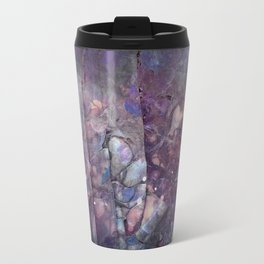 Cracked Purple Geode Texture Travel Mug
