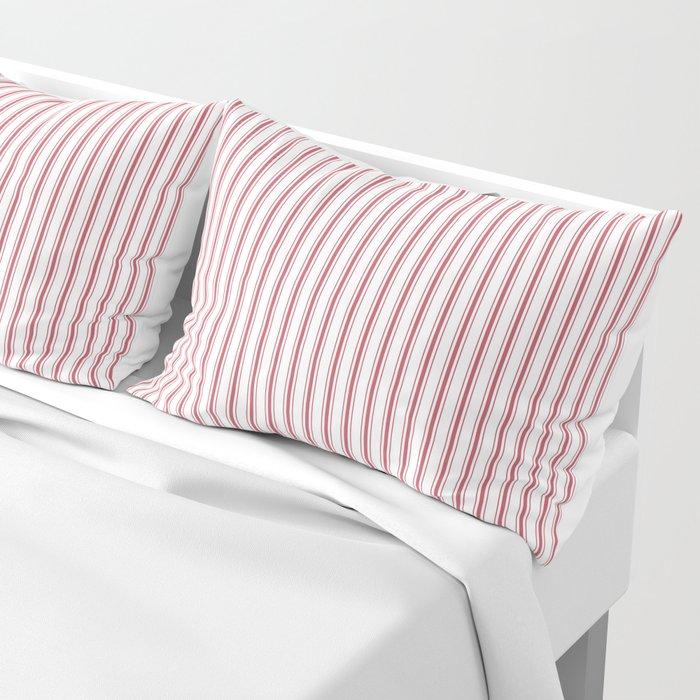 Mattress Ticking Narrow Striped USA Flag Red and White Kissenbezug