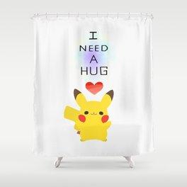 pika hug Shower Curtain