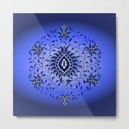 antique blue hue Metal Print