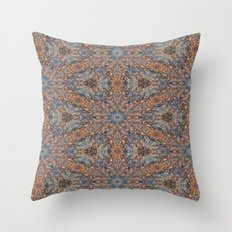 Lacebark Elm Tree Kaleidoscope #3515 Throw Pillow