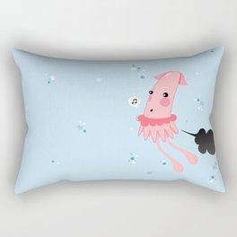 Aquatic Leaks. Squid Troubles Rectangular Pillow