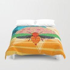 - sun power bee - Duvet Cover