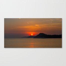 Croatian Sunset Canvas Print