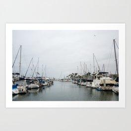California Harbor Art Print