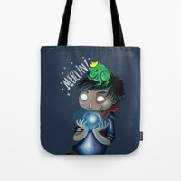 merlin Tote Bags featuring Merlin!!! by Fla'Fla'