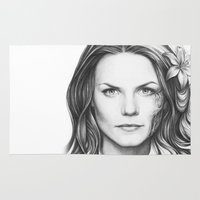 house md Area & Throw Rugs featuring Dr. Cameron-House MD-Jennifer Morrison-Portrait by Olechka