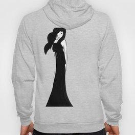 Lady In Black Hoody