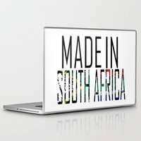 south africa Laptop & iPad Skins featuring Made In South Africa by VirgoSpice