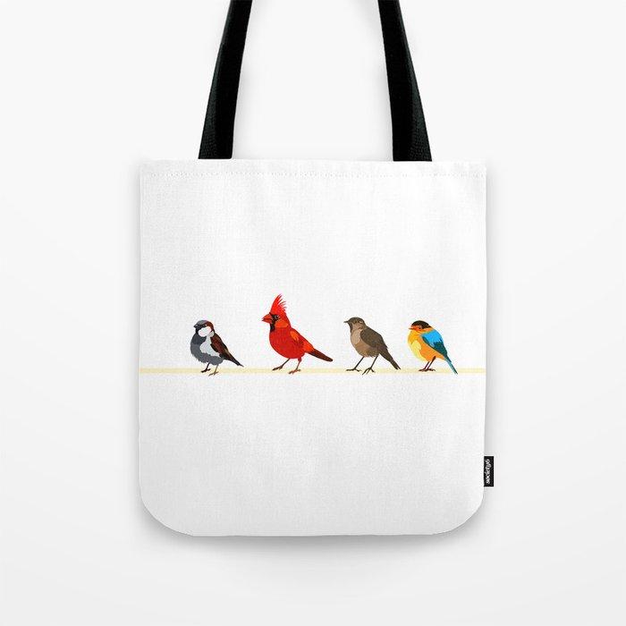 Little birds. Spring. Tote Bag