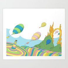 oh the places you'll go .. dr seuss Art Print