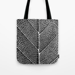 Modern abstract black white tree leave texture Tote Bag
