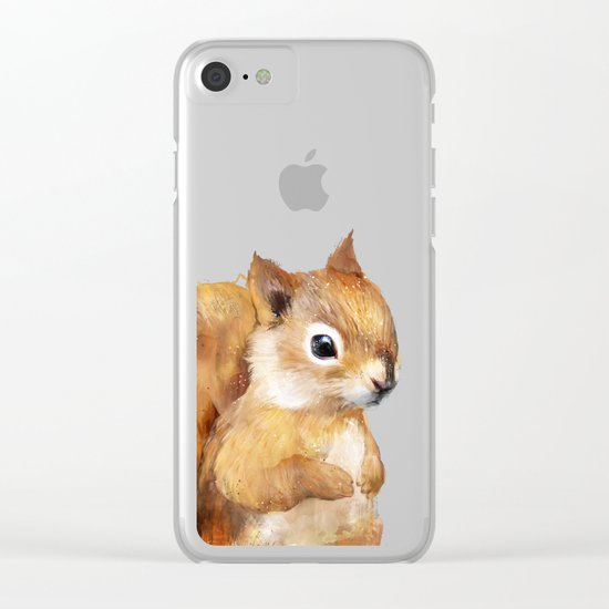 Little Squirrel Clear iPhone Case