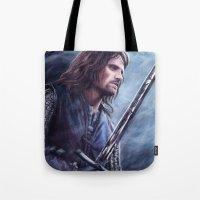 aragorn Tote Bags featuring Aragorn by Svenja Gosen