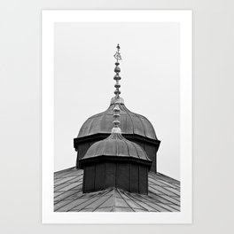 "Travel Photography ""Roofs of Topkapi Palace"" - Istanbul, Turkey. Black and white photo print. Art Print"
