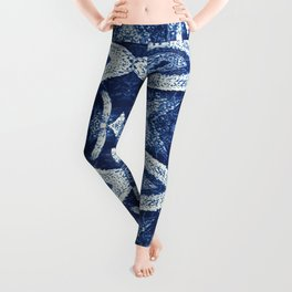 Air Plant in Blue Pattern Leggings
