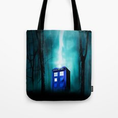 TARDIS BLUE EXPLODES Tote Bag