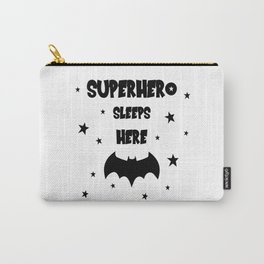 Superhero Sleeps Here Carry-All Pouch