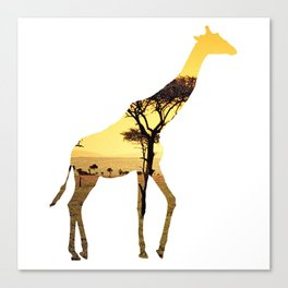 Giraffe Cutout 2 Canvas Print