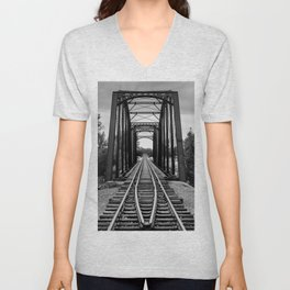 Railroad Bridge  Unisex V-Neck