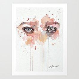 Missing you, watercolor eye study Art Print