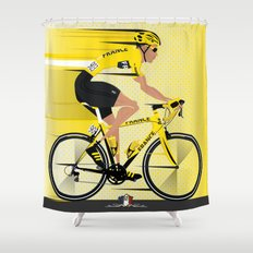 France Yellow Jersey Shower Curtain