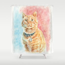 Goose The Cat Shower Curtain