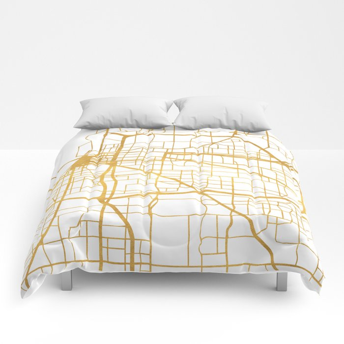 MEMPHIS TENNESSEE CITY STREET MAP ART Comforters by deificusart ...