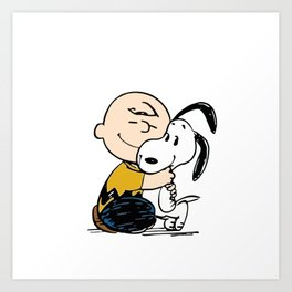 Charlie Brown & Snoopy Art Print