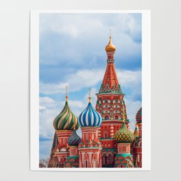 St. Basil's Cathedral in Moscow, Russia. Poster